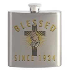 Blessed Since 1934 Flask