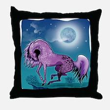 Purple Appaloosa #2 Throw Pillow