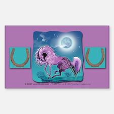 Purple Appaloosa Rectangle Decal