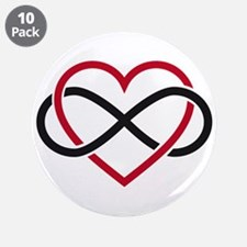 "Love Forever 3.5"" Button (10 pack)"