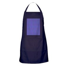 Colorful dots pattern on blue  Apron (dark)