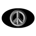 Silver Peace Sign Sticker