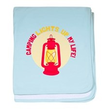 Camping Lights Up My Life baby blanket