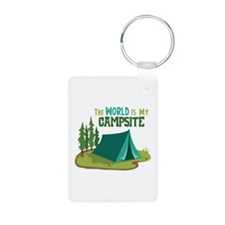 The World is My Campsite Keychains
