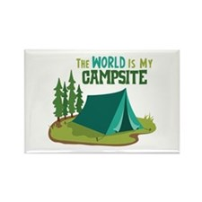 The World is My Campsite Magnets