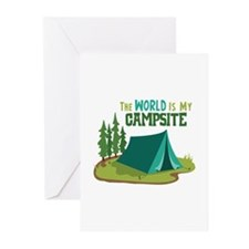 The World is My Campsite Greeting Cards