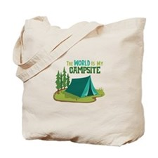 The World is My Campsite Tote Bag