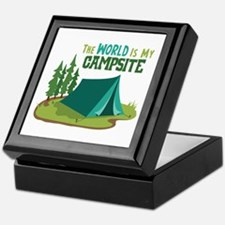 The World is My Campsite Keepsake Box