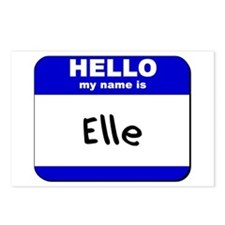 hello my name is elle  Postcards (Package of 8)
