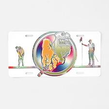 Unique Purgatory golf club logo Aluminum License Plate