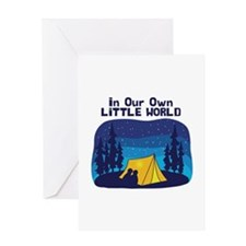 In Our Own Little World Greeting Cards