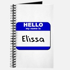 hello my name is elissa Journal