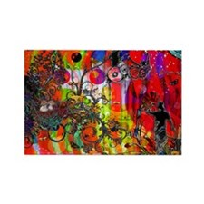 Cute Abstract collage Rectangle Magnet