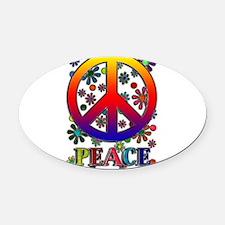 Cute Peace sign Oval Car Magnet