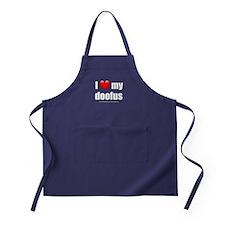 """Love My Doofus"" Apron (dark)"