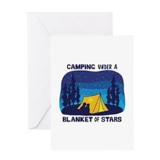 Camping Under a Blanket of Stars Greeting Cards