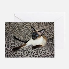 Seal Point Siamese Cat with beautifu Greeting Card