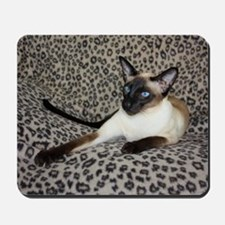 Seal Point Siamese Cat with beautiful bl Mousepad