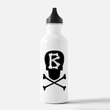 Skull & Crossbones Monogram B Water Bottle