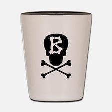 Skull & Crossbones Monogram B Shot Glass