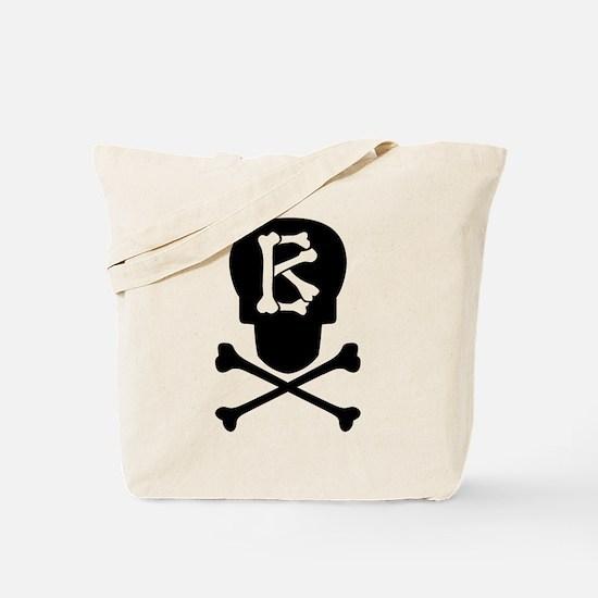 Skull & Crossbones Monogram B Tote Bag