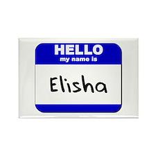hello my name is elisha Rectangle Magnet