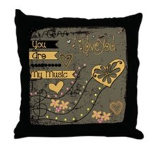 You Are My Music Throw Pillow