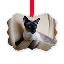 Seal Point Siamese Cat Blue Eyes Ornament