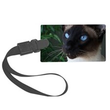 Seal Point Siamese Cat Blue Eyes Luggage Tag