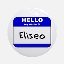 hello my name is eliseo  Ornament (Round)