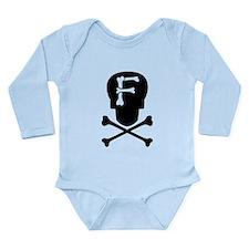 Skull Monogram F Long Sleeve Infant Bodysuit