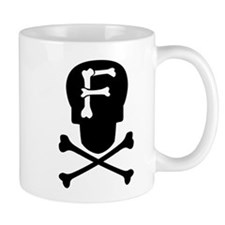 Skull & Crossbones Monogram F Coffee Mug