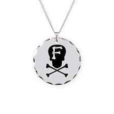 Skull & Crossbones Monogram F Necklace