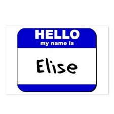 hello my name is elise  Postcards (Package of 8)