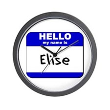 hello my name is elise  Wall Clock