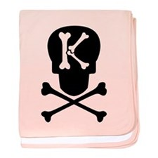 Skull & Crossbones Monogram K baby blanket