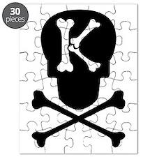 Skull & Crossbones Monogram K Puzzle