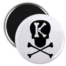 Skull & Crossbones Monogram K Magnet