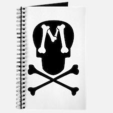Skull & Crossbones Monogram M Journal