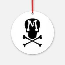 Skull & Crossbones Monogram M Ornament (Round)