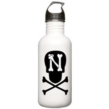 Skull Crossbones Monogram N Water Bottle