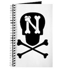 Skull & Crossbones Monogram N Journal