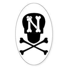 Skull & Crossbones Monogram N Decal