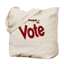 Dont Forget to Vote Red Tote Bag
