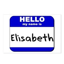 hello my name is elisabeth  Postcards (Package of
