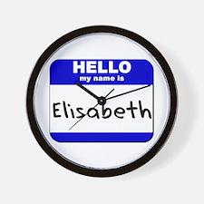hello my name is elisabeth  Wall Clock