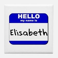 hello my name is elisabeth  Tile Coaster