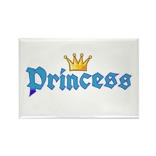 Crown blue princess Rectangle Magnet