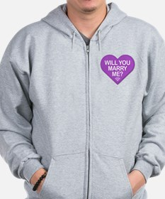 Candy Will You Marry Me? Zip Hoodie