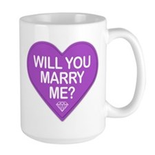 Candy Will You Marry Me? Mugs